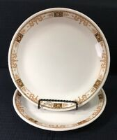 "Syracuse China Set of 2 Webster 9"" Restaurant Ware Dinner Plates Vintage USA"