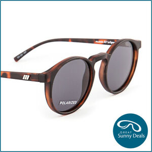 Le Specs Teen Spirit Deux Polarised Matte Tort Grey (1802486) Sunglasses