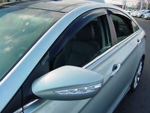 Wind Deflectors for a Hyundai Sonata 2011-2014 Tape-on 2014 - 2018