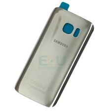 For Samsung Galaxy S7 Back Glass Rear Battery Cover - Silver Titanium
