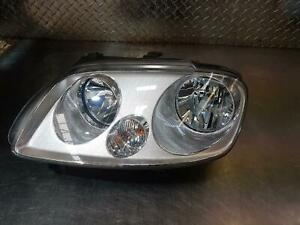 VOLKSWAGEN CADDY LEFT HEADLAMP 2K, CHROME INSERT TYPE, 12/04-08/10