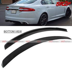 OE Style Rear Trunk Lip Spoiler Wing ABS Black fits 2009-2014 Jaguar XF