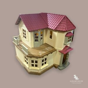 Calico Critters Red Roof Country Home Electronic Dollhouse Toy Epoch