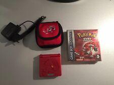 Gameboy Advance SP Groudon Edition + Pokemon Ruby *VGC* *ORIGINAL*
