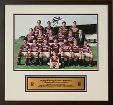 1987 Manly Premiers signed Cliff Lyons Framed Photo Proof