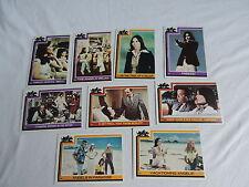 9 OLD 1977 CHARLIE'S ANGELS CARDS SPELLING GOLDBERG FARRAH FAWCETT #122-139 card