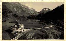 Maloja Schweiz Graubünden alte Postkarte ~1930/40 Panorama mit Hotel Maloja Kulm