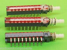 3 Units - 6 pole Toneluck High quality Switch  6PDT Latching (Push On/Push Off)