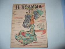 TEATRO RIVISTA IL DRAMMA 86/1949 DIS.KOKA YAMAMURA WILD