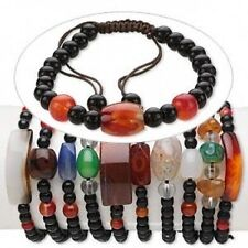 Big Wholesale Jewelry Lot! 50* Agate Gemstone Macrame Bracelets