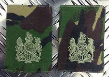 Genuine British Army Woodland Camo SERGEANT MAJOR Rank Slides / Epaulettes - NEW