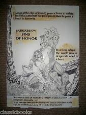 Barnabus Sins Of Honor Reflecto Card  Original  Art SIGNED