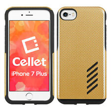 Cellet Dual Layer Anti-Slip Aviator Case for iPhone 7 & 8 Plus – Matte GLD/BLK
