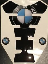 Motorcycle Tank Pad Protector Sticker | (Bmw) Black with side Stickers