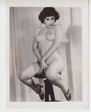 Original 50s Vicki Palmer leggy nude 4x5 photo