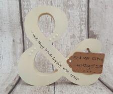 Personalised Wedding, Engagement, Anniversary Wooden gift & symbol