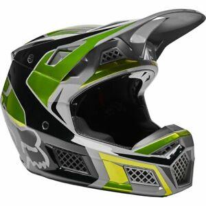 New Fox Racing V3 RS Mirer Helmet, Flo Yellow, X-Large, 28028-130-XL