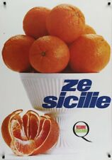 FROM SICILY: ORANGES Vintage 1966 Czech advertising poster 27x40 NM