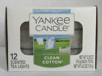 Yankee Candle Clean Cotton Scented Tea Lights FREE P/&P