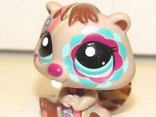 2008 Littlest Pet Shop Cute Beaver #2134 Green Eyes, Brown & Tattooed Hasbro LPS