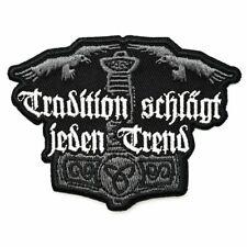 Aufnäher Aufbügler Patch Tradition schlägt jeden Trend Germane nordische Krieger