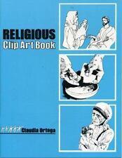 Religious Clip Art Book by Claudia Ortega (1989, Paperback)
