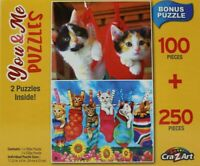 Kittens Cats CraZart You & Me Challenge 100 and 250 Piece Puzzles Box