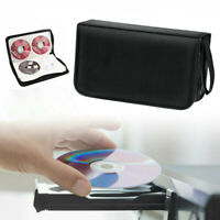 80 Sleeve CD DVD Blu Ray Disc Carry Case Holder Bag Wallet Storage Ring Binder H