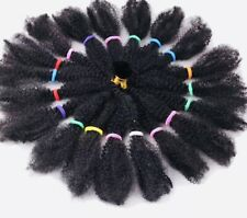 "22"" AFRO KINKY BULK HAIR SYNTHETIC  EXTENSIONS CROCHET BRAIDING TWIST #1B"