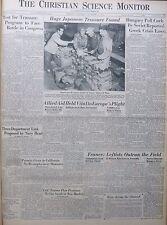 10-1945 October 23 HUGE JAPANESE TREASURE FOUND. ALLIED AID Birthday Newspaper