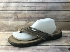OMEGA Men sz 8 Brown Hemp Thong Flip Flops Sandals Shoes