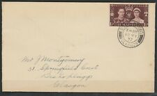 GB 1937 KGVI 1½d 1937 Coronation ON COVER PRE-RELEASED 12 MAY CORONATION DAY
