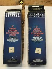 2 NOS Wico Command Control 6' Video System Extension Cord Atari Joystick 9 Pin