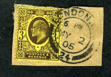 Great Britain, Scott #132, Edward Vii, Used, On Piece, 1902