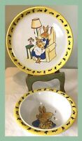 Royal Doulton Dinnerware Set Bunnykins Bunny Rabbits Easter Decorations Vintage