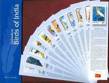 Bookmarks depicting stamps BIRDS OF INDIA theme - Set 2