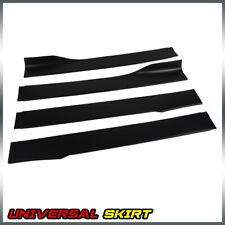 4PCS For Universal Car Side Skirt Extension Rocker Panel  Body Kit Lip Splitters