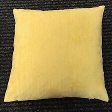 "Chenille Like Plain Yellow Ochre Cushion Cover / Pillow Case 17"" x 17"" UK MADE"