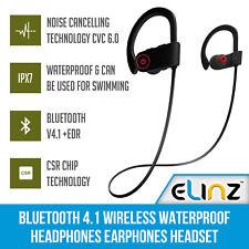 Bluetooth 4.1 Wireless Waterproof Headphones Earphones Headset Sports Mobile MIC