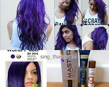 DCASH Master Color Cream Permanent Hair Dye Super Color #BV0044 Violet Blue