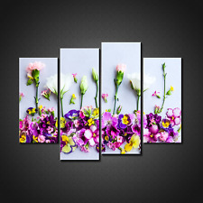 COLOURFUL SUMMER FLOWERS CANVAS PRINT PICTURE WALL ART HOME DECOR FREE DELIVERY