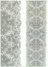 Printed Translucent / Vellum Scrapbook  Paper A/4 Lace White 2
