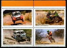 2019 Brazil, motorcycles, racing cars, rally, 4 stamps, MNH