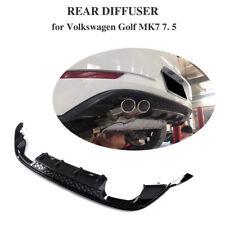Fits Volkswagen Golf 7/7.5 MK 7/7.5 17-18 PP Rear Bumper Diffuser Quad Outlet