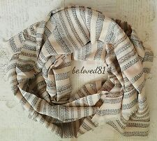 New NWT J.crew Patterned Stripe Scarf in Color : Neutral Multi