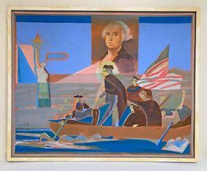 DON VOGL Pastel Acrylic POP PAINTING George Washington 33 x 44 LISTED ARTIST