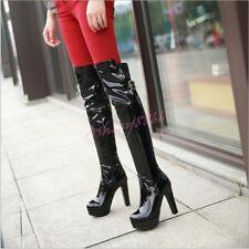 Women Sexy Clubwear Nightclub Over Knee High Boots SHoes Knight High Block Heels