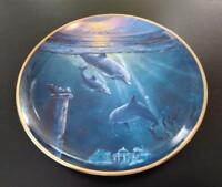 Legend of the Dolphins Fine Porcelain Plate - Franklin Mint Heirloom Collection