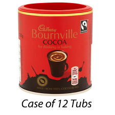 CADBURY BOURNVILLE COCOA 125g x 12 TUBS HOT CHOCOLATE WHOLESALE RETAIL 031260