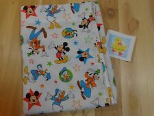 Disney MICKEY MOUSE and Friends Toddler Bed Flat Sheet Donald Duck Goofy Pluto